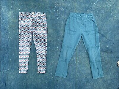 Lot of 2 Girl's Tea Collection Tucker And Rare Blue Leggings Pants  Sz 5 & 6