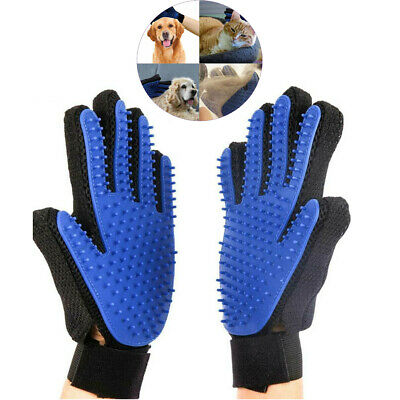 New Dog Cat Grooming Brush Glove Pet Massage Comb Hair Removal Fur Cleaning Tool