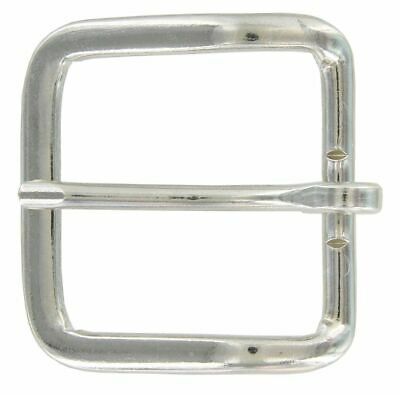 Simple Round Edge Square Single Prong Replacement Belt Buckle 40MM