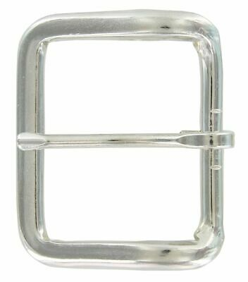 Simple Round Edge Square Single Prong Replacement Belt Buckle 45MM