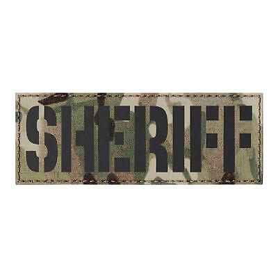 IR sheriff 3x8 tan coyote brown chest rig loadout law laser cut patch