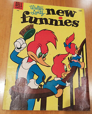New Funnies Woody Woodpecker Dell 220 1955