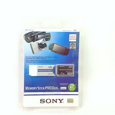 New 2GB Sony Memory Stick Pro Duo Card Mark2 PSP Magic Gate and Adapter MS-MT2G