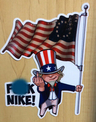 Nike Betsy Ross Flag Colin Kaepernick Spoof Funny Sticker Decal F*** Nike