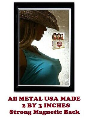 SM102- Sexy Lone Star Beer Girl 2 by 3 Inch Metal Refrigerator Magnet