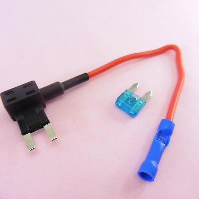 1x-5x ADD a Circuit Mini Fuse Holder Piggy Back + 15A Breaker 12V Car Motor Tap