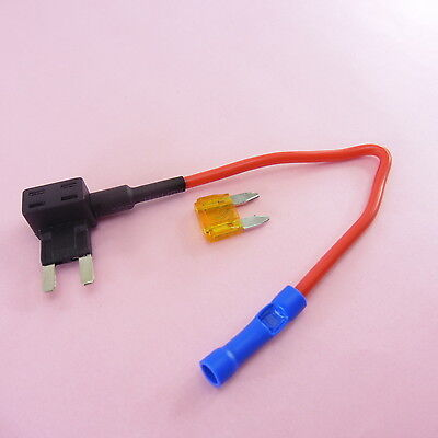 1x-5x ADD a Circuit Mini Fuse Holder Piggy Back + 5A Breaker 12V Car Motor Tap