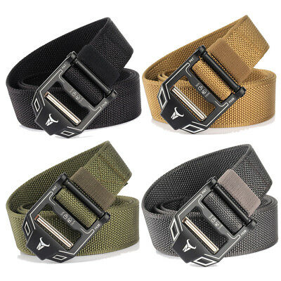 Men's Nylon Alloy Buckle Belt Outdoor Sport Military Tactical Strip 125cm