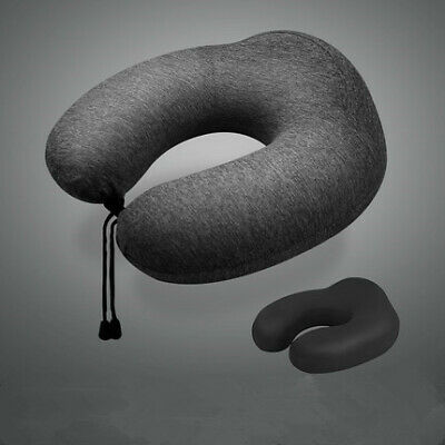 PREMIUM LUXURY Memory Foam Travel Neck Support Pillow Soft Breathable Cushion