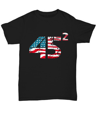 President Donald Trump 45 T-Shirt USA Flag Election 2020 Vote Support Trump Tee