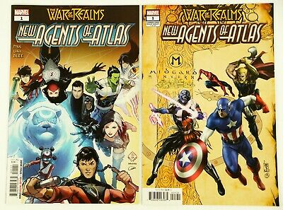 War Of The Realms New Agents Of Atlas #1A & #1B Lot (Marvel July 2019) Pak NM