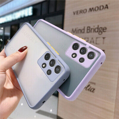 For Samsung S10 Plus Ultra Thin Frameless Sandstone Matte Ring Clear Case Cover