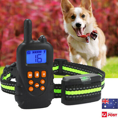 Electric Remote Dog Anti Bark Training Collar 1 Receiver 800m Range Rechargeable