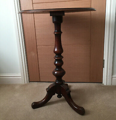 Late 19th Century/Victorian small mahogany side pedestal table in very nice cond