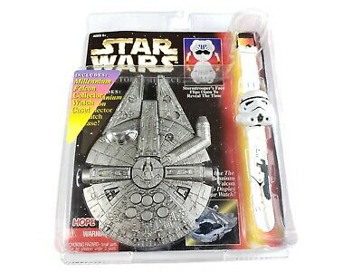 Star Wars Stormtrooper Collector Timepiece Watch With Millennium Falcon Case Vnt