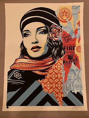 Shepard Fairey Signed Fire Sale Obey Giant Limited Edition Signed