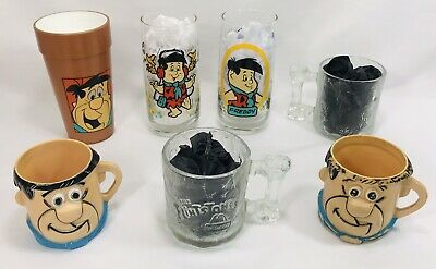 Vintage Fred Flintstones Lot Fred Collectors Lot 1960-90's Pez Glasses Plush Toy