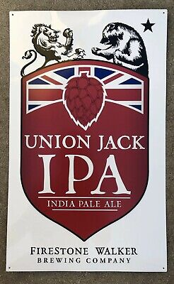 Firestone Walker Brewing ~ 805 Ale ~ Tin Tacker Sign ~ Beer Sign ~ License Plate