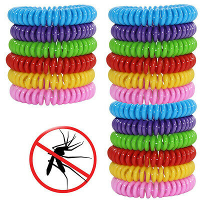 18 Pack Mosquito Repellent Bracelet Band Pest Control Insect Bug Repeller RS