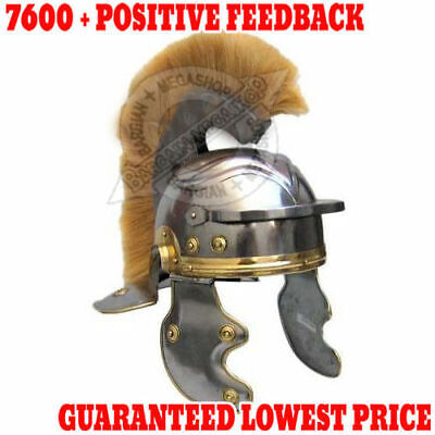 Medieval Roman Centurion Helmet Plume /& Fitted Leather Liner,Chin Strap+exp.ship