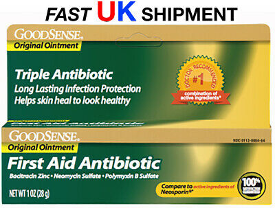 GoodSense First Aid TRIPLE ANTIBIOTIC OINTMENT 1.0 OZ (28.3 g) SAME DAY UK POST