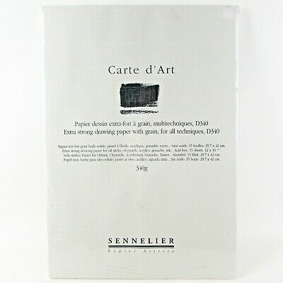 Sennelier D340 Carte d'Art Drawing Paper 29.7 x 42cm Extra Strong with grain