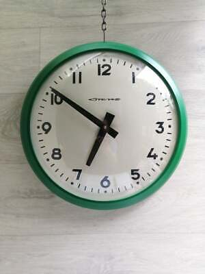 Vintage Industrial Factory Wall Clock.School Wall Clock.Train Station Wall Clock