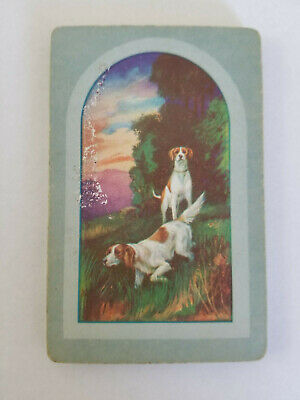 Single Suit (Hearts) - Vintage Swap Playing Cards - Bird Dogs, Hunting, Window