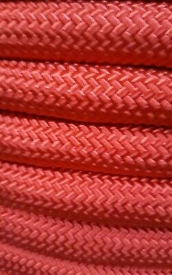 """100ft 30kN Double Braided Rope 7//16/"""" Industrial Hauling Arborist Rigging Line"""