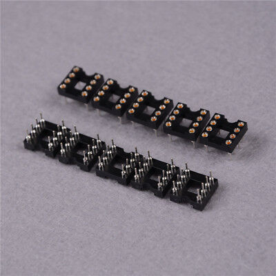 10pcs Round Hole 8pin Pitch 2.54mm DIP IC Sockets Adapte!