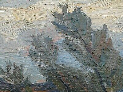 Antique Painting, Canadian Artist, Water Landscape  Attributed To Group of Seven