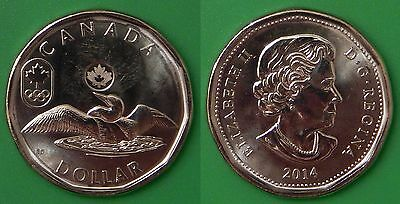 2014 Canada Lucky Loonie From Mint Roll