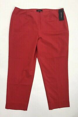 Lafayette 148 New York Bleecker Cropped Pants Red Rock Size 14 NWT $328