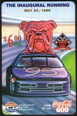 $6. Red Dog 300 Inaugural Running: 05/27/95 (Coke 600 Logo) JUMBO Phone Card