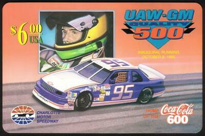$6. UAW-GM 500 (Inaugural: 10/08/95) (Coke 600 Logo) JUMBO Phone Card