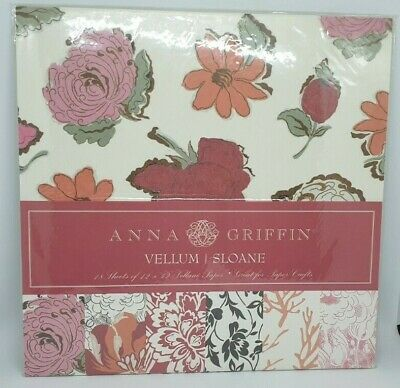 "ANNA GRIFFIN - 12"" x 12"" VELLUM Pad - SLOANE - 18 Sheets"