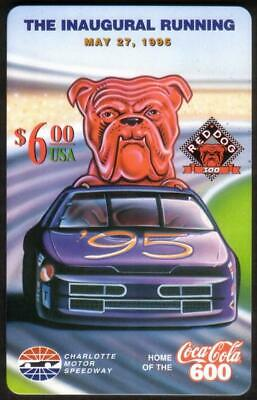 $6. Red Dog Beer 300 Inaugural (05/27/95) *TEST* (Coke 600 Logo) Phone Card