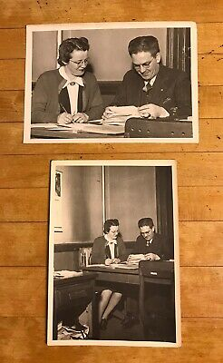 Lot 2 Antique/Vintage/Old Photographs Pictures of Man & Woman at Work Business
