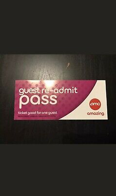 4 Tickets IMAX, 3D IMAX 3D AMC Readmit Movie Tickets Passes Exp on 9/30/19 guest