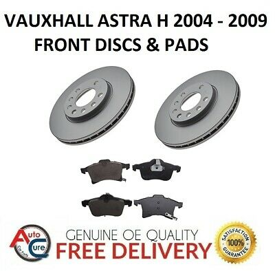 Vauxhall Astra H Mk5 Front Brake Discs And Pads Set 5 Stud 2004-2009 **New**