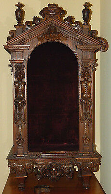 Antique 17th Century European Tabernacle, Carved From Oak, Authentic, Italian
