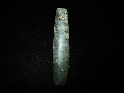 Pre-Columbian Green Jade Ceremonial Pendant , Very Large, Authentic