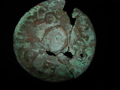 Pre-Columbian Moche Copper Disk, 100% Authentic