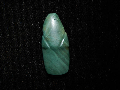 Pre-Columbian Carved Avian Jade Pendant, Authentic Costa Rica