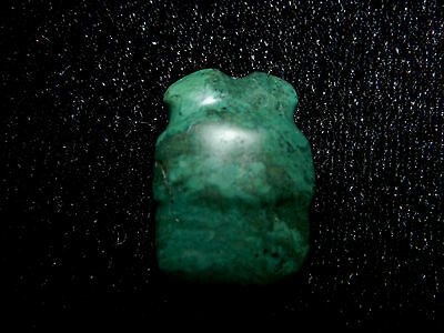 Pre-Columbian Carved Blue Jade Bead, Nicoya Costa Rica