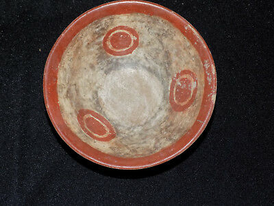 Pre-Columbian Chupicuaro Bowl with Sun Glyphs, Authentic Mesoamerica, Polychrome