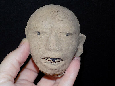 Pre-Columbian Veracruz Head Fragment, Clay Head Fragment