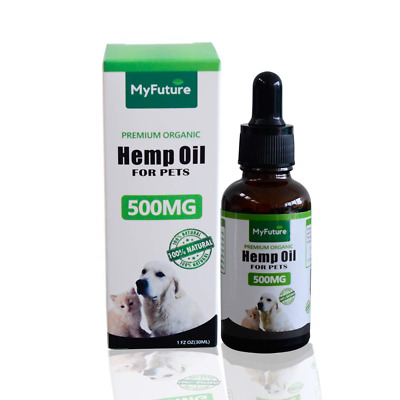 MyFuture Premium Organic Vegan 500mg Hemp Oil for Dogs & Cats. Best for Calming