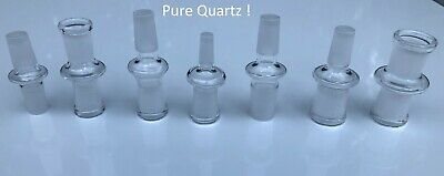QUARTZ  ADAPTERS 14mm 18mm Male Female QUARTZ Adapters seperior quality MSRP $20