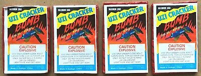 4 UZI CRACKER BOMB Firecracker Pack Labels 16s - DOT